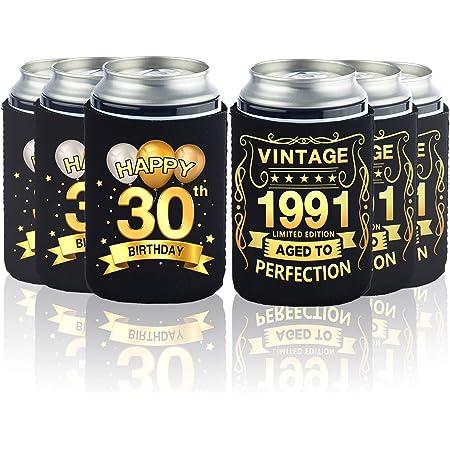 Drink Holders Set//6 Happy 30th Birthday Koozies
