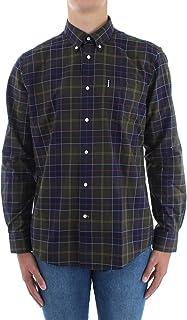 Barbour MSH4283-TN11 Wetheram Tartan - Camisa de hombre con botón Down de franela ligera 100% algodón regular Fit con bols...