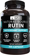 100% Pure Rutin, 6-Month Supply, 365 Capsules, No Stearates or Rice Fillers, Made in The USA, Potent, Undiluted and Natura...