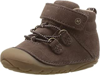 Stride Rite Boys Blake Baby High-Top Suede Sneaker Ankle Boot, dark brown, 3 XW US Infant