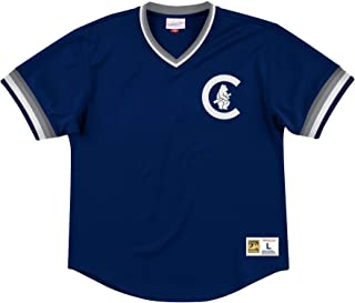 Mitchell & Ness Chicago Cubs Men's Mesh V-Neck Jersey
