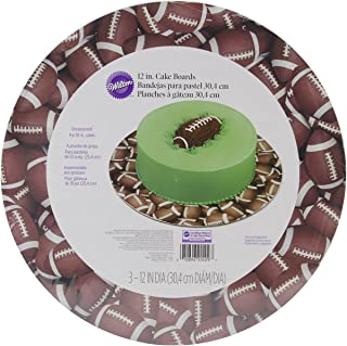 Wilton 2104-0409 Football Cake Board, 3-Pack