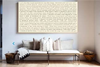 Song Lyrics on Canvas, Typography Art, First Dance Song, Wedding Song On Canvas, Song Lyric Wall Art, First Anniversary Gift, Canvas Art