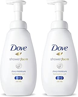 Dove Foaming Body Wash Shower Foam Deep Moisture 250 Pumps Per Bottle 13.5 oz 2 Count