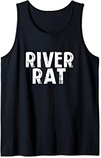 River Rat Boat Vacation Float Vibes Summer Outdoors Fishing Tank Top