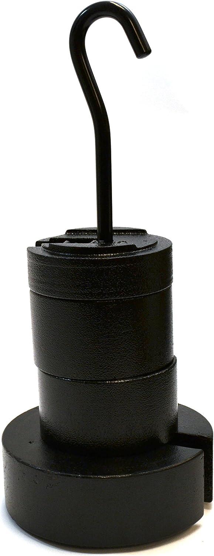 Eisco Labs 5-teiliges Gusseisen-Set mit Schlitzen, 10 kg, 1 x 5 kg, 2 kg, 1 x 1 kg, 1 x 0,5 kg Kleiderbügel