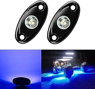 2 Pods LED Rock Lights, Ampper Waterproof LED Neon Underglow Light for Car Truck ATV UTV SUV Jeep Offroad Boat Underbody Glow Trail Rig Lamp (Blue)