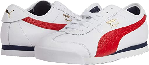 Puma White/High Risk Red