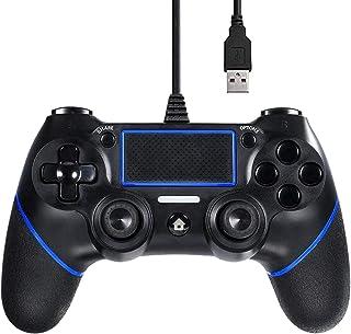 FONLAM PS4 PS3 コントローラー DUALSHOCK 4 有線/無線 コントローラー 2重振動 PlayStation 4 ゲームパッド マット質感 PS4/PS3/PS4 Slim/PS4 Pro/PC 360 Windows 7...