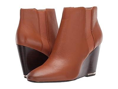Kenneth Cole New York Merrick Wedge Bootie (Cognac Leather) Women