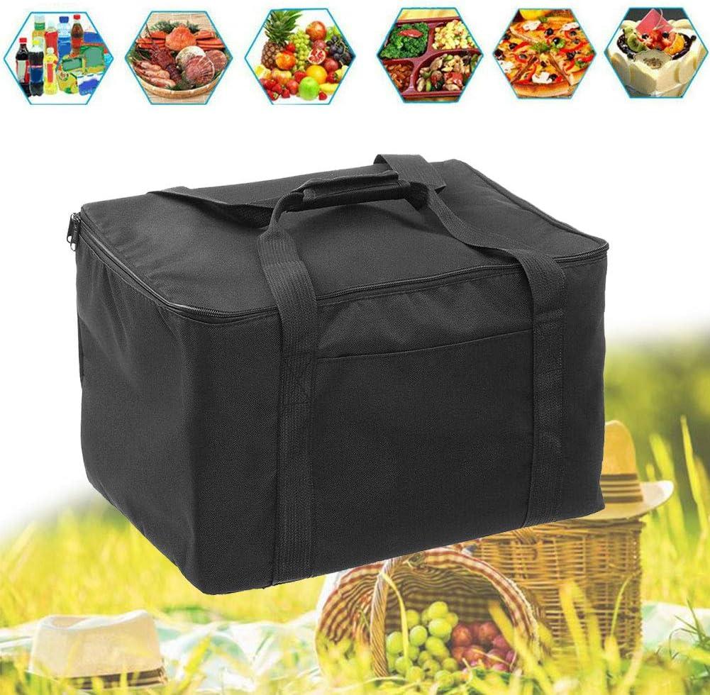 wiederverwendbar Lebensmittelaufbewahrung f/ür Lebensmittel wasserdichte Liefertasche f/ür hei/ße Speisen tragbar faltbar Tonquu Isolierte Lebensmittel-Liefertasche Pizza-Box