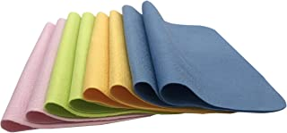Eyeglass Cleaning Cloth Also Work for Watches, Camera, Lens, Glasses, Screen, iPad, iPhone, Tablet, Cell Phone, Smartphone Laptops Cloths Cleaner Kit (8 Pieces) (Four Colors)