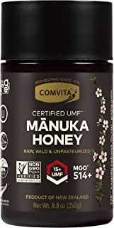 Comvita Certified UMF 15+ (MGO 514+) New Zealand's #1 Raw Manuka Honey, Superfood Premium Grade, Non-GMO, 8.8 Oz