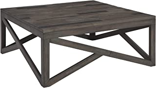 Signature Design by Ashley – Haroflyn Rustic Square Cocktail Table, Gray