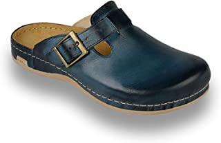 LEON 707 Leather Slip-on Mens Mule Clogs Slippers Shoes