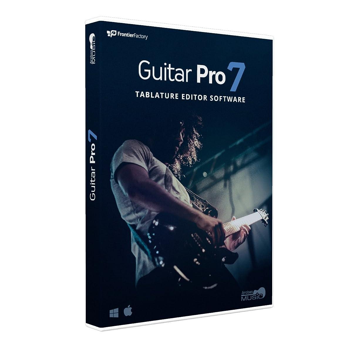 かろうじてお願いします演じるArobas Music ギタリストのためのタブ譜?スコア編集ソフト Guitar Pro 7 ARGP70H111