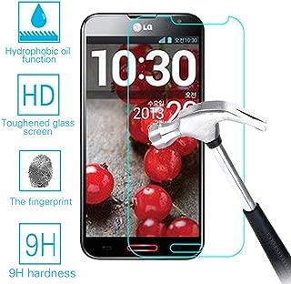 LG G Pro F240 E980 E985 Real Tempered Glass Screen Protector Guard,Bubble-free Anti-Scratch Ultra Clear 9H Premium Tempered Glass 0.26mm HD Screen Protector Film for LG Optimus G Pro F240 E980 E985