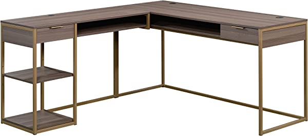 Sauder 423302 国际 Lux L 书桌钻石灰饰面