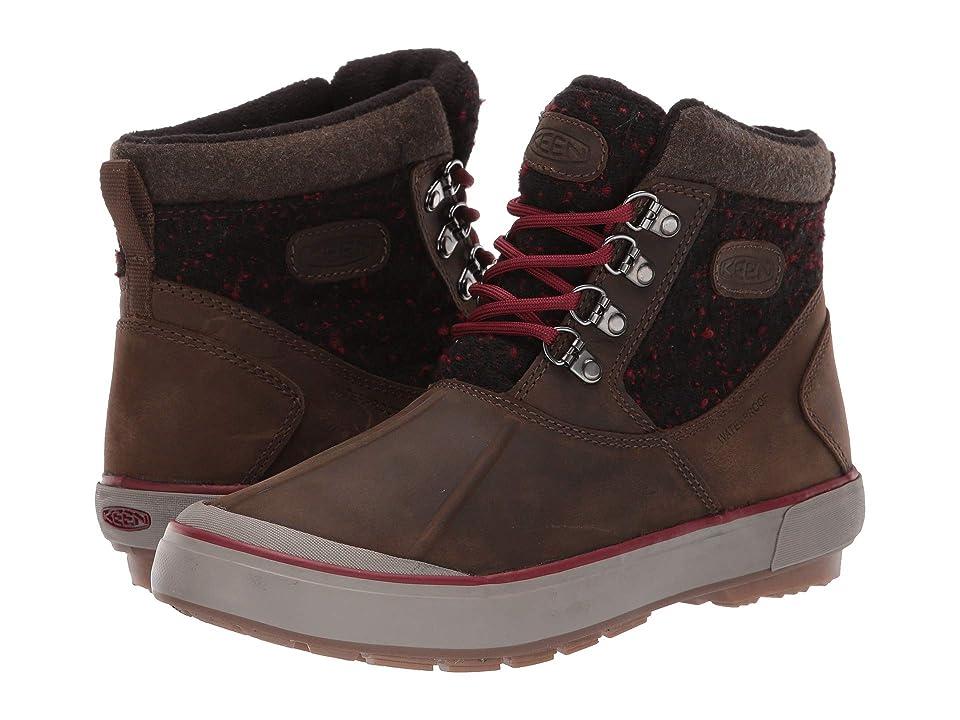 Keen Elsa II Ankle Wool Waterproof (Cascade Brown/Fried Brick) Women
