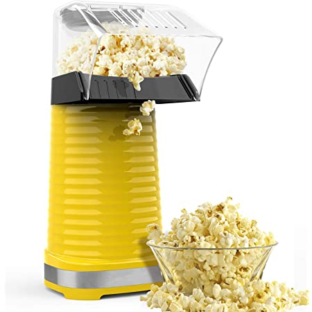 1200 W Popcorn Popper Electric Popcorn Maker with Measuring Cup and Removable Lid Black No Oil Needed Great For Kids Homdox Hot Air Popcorn Machine