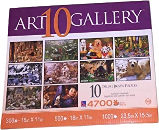 Sure-Lox Art Gallery 10 Deluxe Jigsaw Puzzles ~ 4700 Pieces (Outdoor Living)
