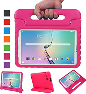 NEWSTYLE Tab E 9.6 Case - Shockproof Light Weight Protection Handle Stand Kids Case for Samsung Galaxy Tab E / Nook 9.6 Inch 2015 Tablet WiFi and Verizon 4G LTE Version (Magenta) Not Fit Other Tablet