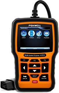 FOXWELL NT510 OBD2 Bi-Directional Scan Tool for Honda Acura All System Diagnostics ABS SRS Transmission Battery Registeration TPS SAS TPMS DPF CVT CKP EPB Oil Reset, Code Reader for All Car Makes