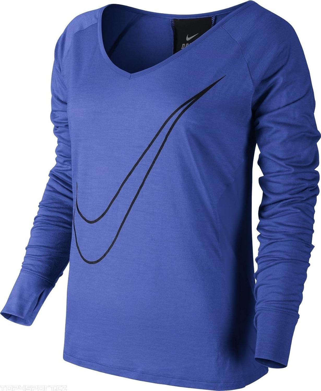Nike Womens Lux Longsleeve Running Shirt, Cobalt bluee, X-Small, 618115 439
