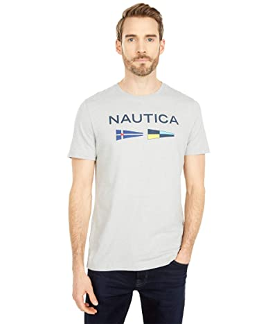 Nautica Signal Flags Graphic T-Shirt (Medium Grey Heather) Men