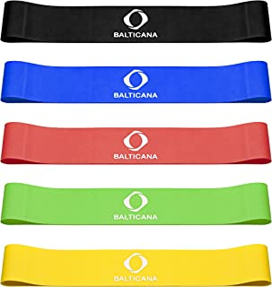 BALTICANA Resistance Bands, Pull-up Eco-Friendly Assist Bands Set of 5 Different Colors for Power Lifting, Muscle toning, ...