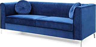 Glory Furniture Delray Sofa, Navy Blue. Living Room Furniture, 32