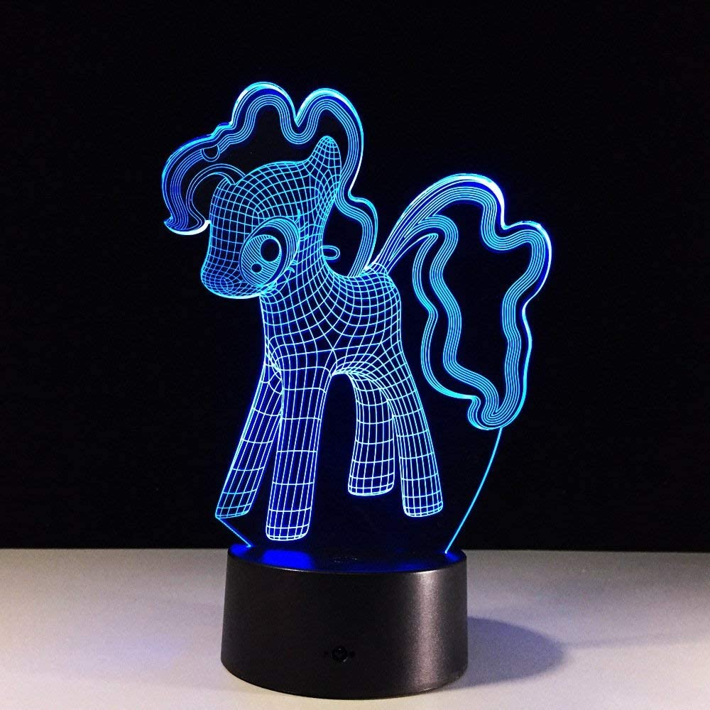 Neonato The Unicorn 3d Lamp Animal Pegasus The Western Myth Led Night Light Lampbedside Decorative Pretty