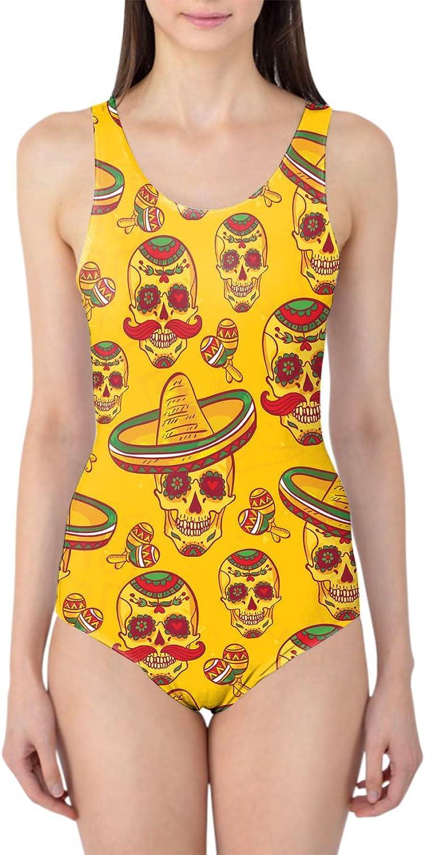 Queen of Cases Mexican Sugar Skulls in Gold Gold Gold Woherren Swimsuit Badeanzug XS-3XL B0187NDCZG  Qualitätskönigin a188a6