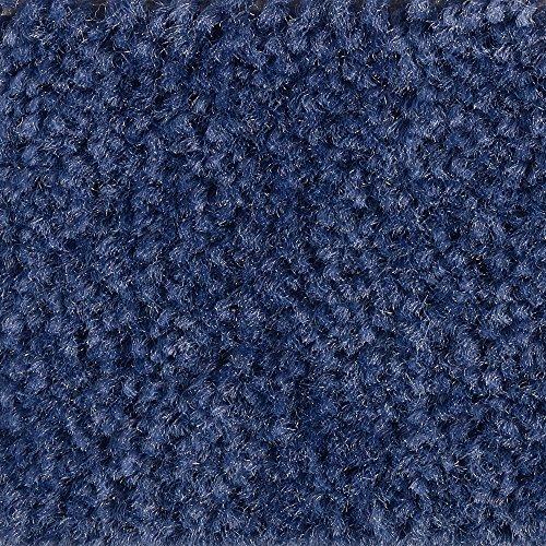 Teppichboden Auslegware Meterware Velour meliert blau dunkel 400 cm und 500 cm breit, verschiedene Längen