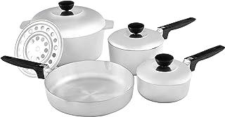 IMUSA USA IMU-89304 Heavy Duty 8-Piece Cast Aluminum Cajun Cookware Set, Silver