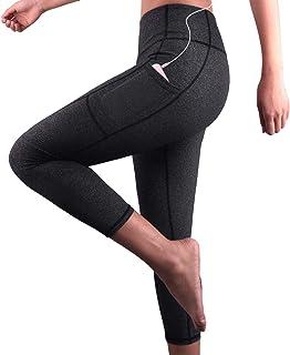 cf085fcef07f74 UNIC Legging Sport Femme,Femme Pantalon Yoga avec Poche,Taille Haute Legging