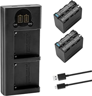 Joiry Battery and Charger Kit for Sony NP-F970 NP-F750 NP-F930 NP-F530 NP-F550 NP-F570 NP-F770 NP-F950 NP-F960 NP-975