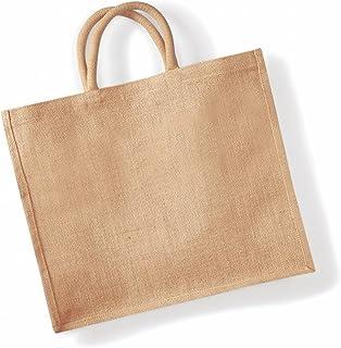 Westford Mill Jumbo Jute Shopper Bag (29 Litres) (UK Size: One Size) (Natural)