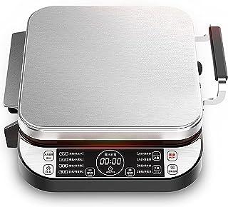 Non-stick frukostmaskin, multifunktionell grillgrill, 220V hushålls elektrisk crepe pannkaka maker maskin, för grillen trä...