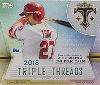 2018 Topps Triple Threads MLB Baseball HOBBY box (14 cards)