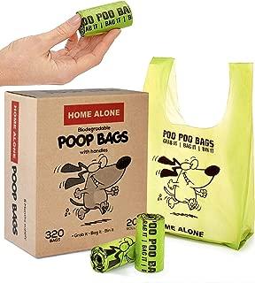 Dog Poop Bags - Dogs Waste Bag - Pet Poop Bags - Poop Bags for Dogs - Poop Bags with Handles Easy-Tie - Green - Unscented
