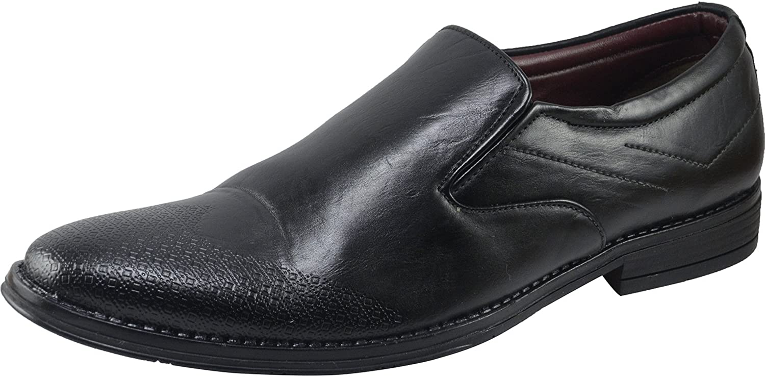 Vonzo Men's schwarz Slip on Formal schuhe