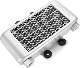 Acouto Aluminum 65ml Engine Oil Cooler Cooling Radiator for 100CC-250CC Motorcycle Dirt Bike ATV(Silver)