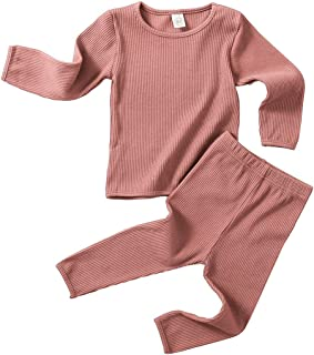 Baby Boy Clothes Pajamas Girl Cotton Winter T-Shirt and Elastic Pants Solid Clothing 2Pcs Outfits...