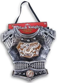 Black Knight Silver Dragon Cuirasse Chest Plate Armor for Children's Costume