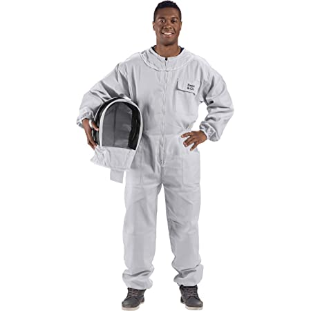 Bee Proof Heavy Duty Breathable Beekeeping Suit Medium Large w//o gloves w//Bag