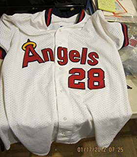 Angels Bert Blyleven game used Jersey signed