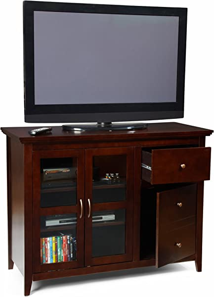 Convenience Concepts Designs2Go Sierra Highboy TV Stand For Flat Panel TV S Up To 50 Inch Or 100 Pounds Rich Espresso