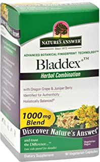 Natures Answer Bladdex - Healthy Genito Urinary Tract - Herbal - 90 Vegetarian Capsules