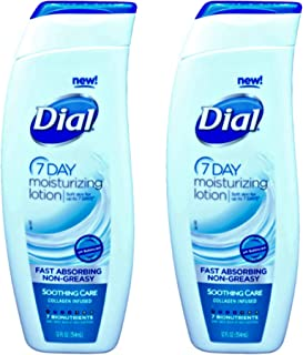 Dial 7 Day Moisturizing Lotion (2 pack) Soothing Care Non Greasy Formula